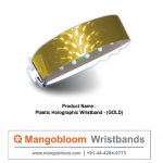 Plastic Holographic Wristband (Gold)