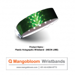 Plastic Holographic Wristband (Neon Lime)