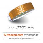 Plastic Holographic Wristband (Orange)
