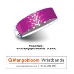 Plastic Holographic Wristband (Purple)