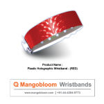 Plastic Holographic Wristband (RED)