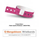 Plastic Sparkle Wristband (Neon Pink)