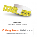 Plastic Sparkle Wristband (Yellow)