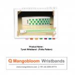 Tyvek Wristband (Polka Pattern)