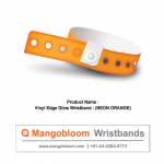 Vinyl Edge Glow Wristband (Neon Orange)