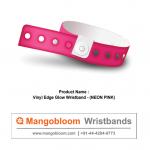 Vinyl Edge Glow-Wristband (Neon Pink)